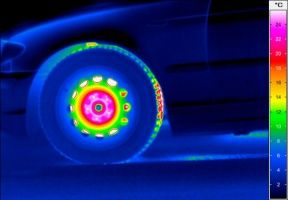 thermography-automotive-brake-test